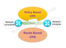 Difference between a Policy-based VPN and a Route-based VPN
