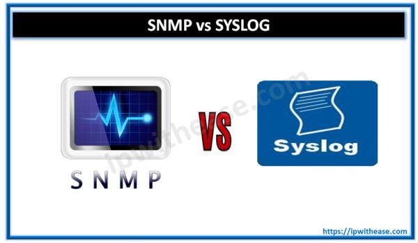 snmp vs syslog